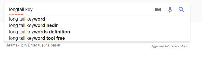 Kullanıcılar Google'da Bunlarıda Arıyor